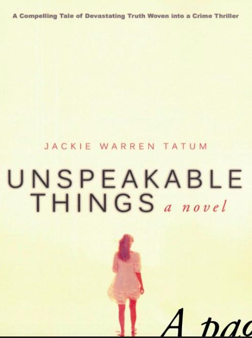 Unspeakable Things Book
